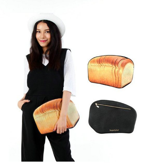 10d8c7998c3a fashion girls funny clutch creative shape baked bread stick strawberry  pizza candy bottle bag women s novelty