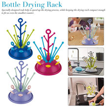 Baby Bottle Drying Rack Pacifier Nipple Drier Cute Tree Shape Cups Holders Infant Feeding Shelf Detachable Easy Clean