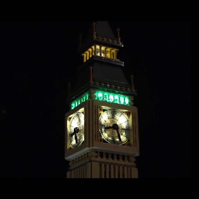 Zestaw oświetlenia LED do lego 10253 kompatybilny 17005 miasto Creator Big Ben klocki klocki zabawki (tylko światło z opakowanie na baterie)