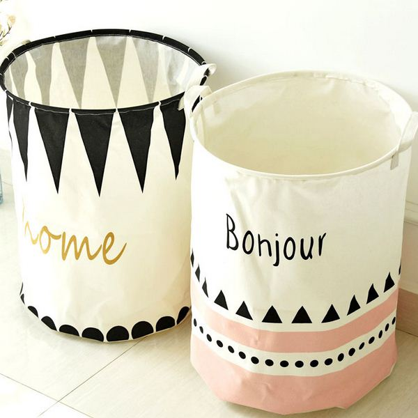 Laundry Basket Waterproof Letters Print Toy Orgnizer Clothes Storage Bag Fold Binorganizador Home Decor BD-12