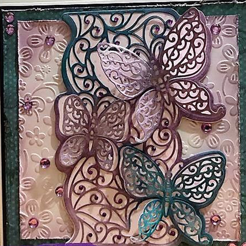 Lace Butterfly Frame Metal Cutting Dies for Scrapbooking 2019 Paper Craft Embossing Die Card Making Stencils Knife Mould in Cutting Dies from Home Garden