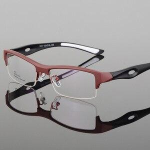 Image 4 - الرياضة إطار مشهد جذاب رجالي تصميم مميز مريح TR90 نصف إطار مربع نظارات رياضية إطار eyeglass s1077