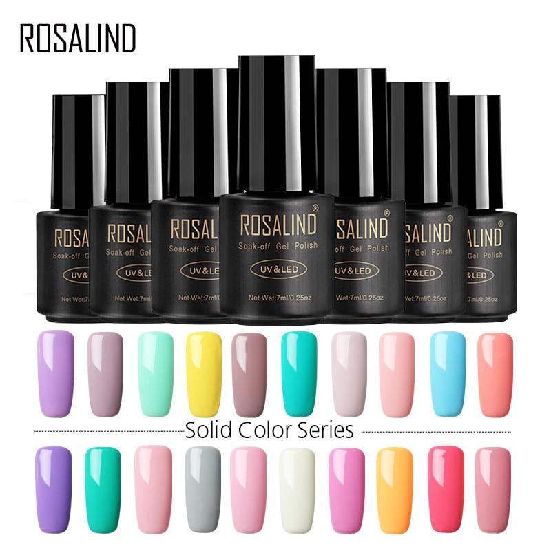 ROSALIND Gel Varnishes Nail Art 7ML Nail Gel Polish Semi Permanent UV Gel Lacquer Manicure Soak off  Primer For Nails Design цена 2017