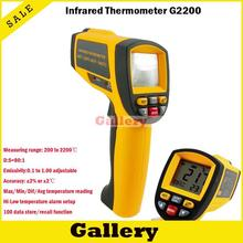 Cheapest prices NEW GM2200 Non-Contact LCD display IR Infrared Digital Temperature Gun Thermometer 200~2200C 80:1 RS232 interface Software CD