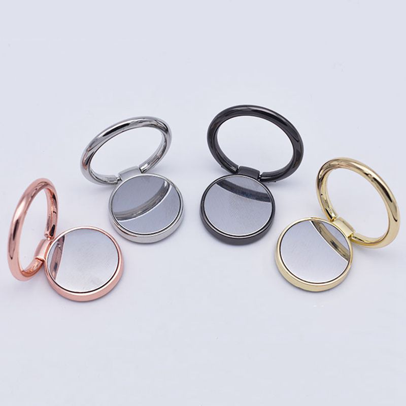 360 Degree Rotating Metal Phone Ring Bracket Holder Stand Mirror For IPhone 8 X XR SamSung S10 S9 Xiaomi 9 8 7 Redmi Note 7