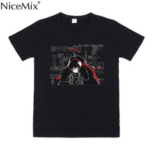 NiceMix Dark Japanese Characters Cute Loose T-Shirt Summer Cotton T Shirt Fashion Casual Short Sleeve TEE Tops Colors Black/Whit