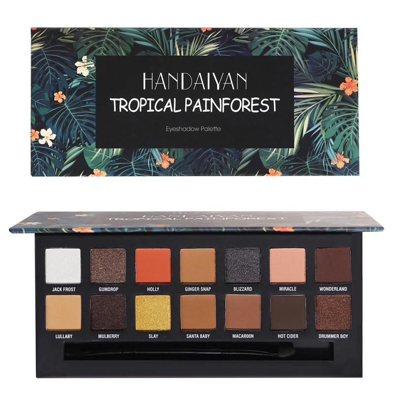 Brand Makeup 14 Color Eyeshadow Palette Long Lasting Matte Shimmer Fahion Glamorous Smokey Pigment Eye Shaow brush ABH Makeup все цены