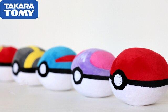 Takara Tomy Pokemon Animais Bola balll Bonito Pikachu de Pelúcia Boneca de Pelúcia Saco Chaveiro Chaves Pingente Boneca de Pelúcia Brinquedos Infantis