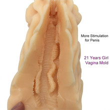 Young Girl Vagina Mold Silicone Artificial Vagina for Sex Masturbation Male Masturbator Vagina Real Pussy Sex Toys for Man
