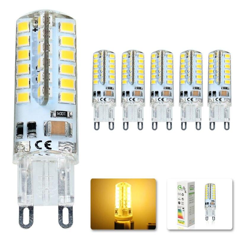 5x LED Bulb SMD 2835 G9 7W 48 leds Corn Light 220V 360 Degree Replace Halogen Lamp 48LED AC 200-240V