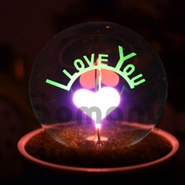 ФОТО Luster Small Potted Night Lights Love Manifesto I Love U/Love/Rose/Sunflower For Bedroom/Desk/Table Lighting Tungsten Wire