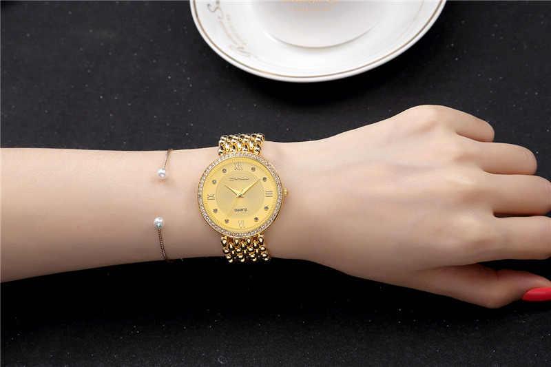 Nouveau CRRJU marque de luxe femmes montres Bracelet Relogio Feminino dames montre diamants or montre femmes montre femme 2019 Reloj