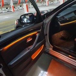 2 цвета автомобиля неоновая voiture Светодиодная лента внутренняя декоративная дверь окружающий свет для bmw m5 f10 Тюнинг автомобиля Универсальн...