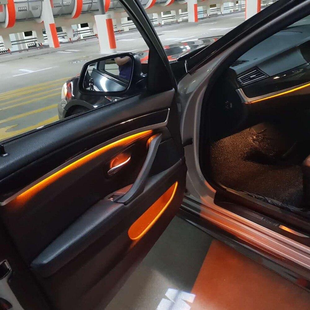 2 цвета автомобиля неоновая voiture Светодиодная лента внутренняя декоративная дверь окружающий свет для bmw m5 f10 Тюнинг автомобиля Универсальная атмосферная лампа
