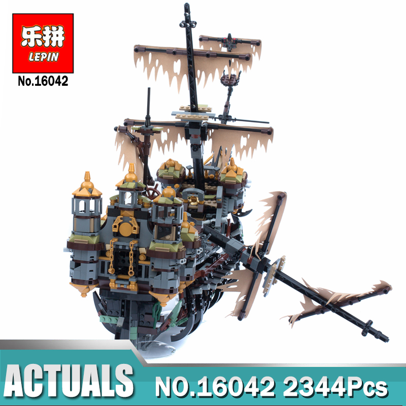 New Lepin 16016 22001 Pirate Ship Building Blocks Lepin 16042 The Silent Mary Set Compatible LegoINGlys 71042 Model for Children