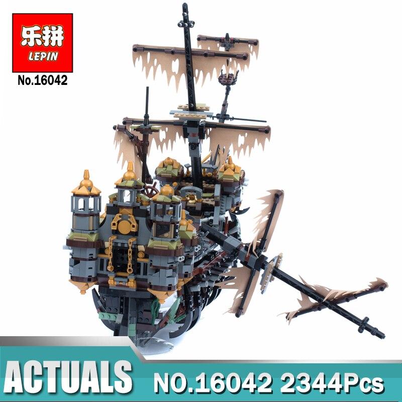 Nouveau Lepin 16016 22001 bateau Pirate blocs de construction Lepin 16042 le silencieux Mary Set Compatible LegoINGlys 71042 modèle pour enfants