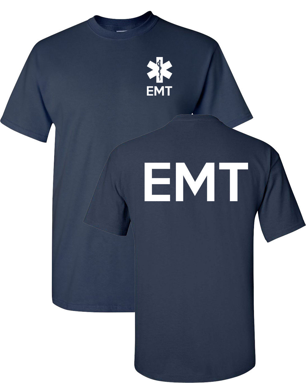 Fashion s T Shirt Cotton Short Sleeve Emt Paramedic Emergency Medical Services Front & Back Mes High Quality Tees(China)