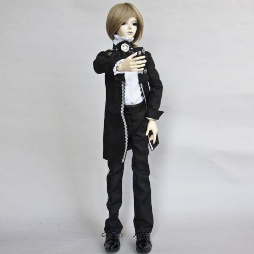 [wamami] 510# Black Prince Suit/Outfit 1/4 MSD BJD Boy Dollfie 1 3 1 4 1 6 1 8 1 12 bjd wigs fashion light gray fur wig bjd sd short wig for diy dollfie
