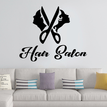 Amusing Hair Salon Sticker Waterproof Vinyl Wallpaper For Barber Room Wall Decal Mural Hairstyle Stickers