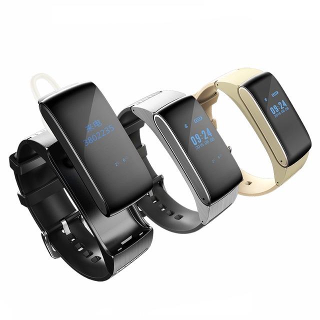 Smartband DF22 Bluetooth Inteligente pulseira relógios de Som HiFi fone de Ouvido Digital de Pulso Pista de Fitness Calorias Pedômetro Monitor de Sono