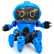 Christmas 963 Intelligent Induction Remote RC Robot Toy Model with Following Gesture Sensor Obstacle Avoidance for Kids Gift(China)
