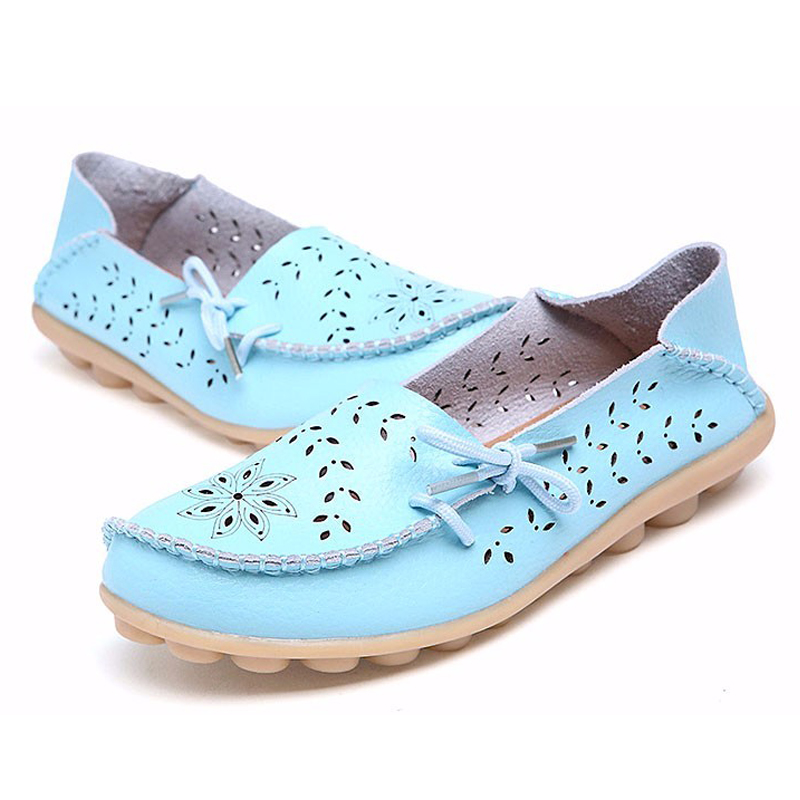 Weweya Summer Plus Size Women s Flats Shoes Women Ballet Flats Ladies Shoes Slip on 9