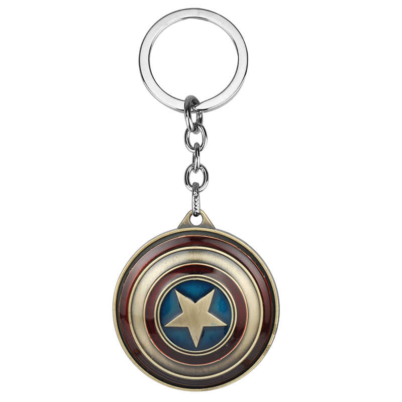 MQCHUN New Marvel Super Hero Captain America pendant key ring key holder llaveros metal avengers Cosplay Keychain Gift-50