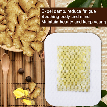6 PCS Tradition Chinese Detox Foot Patch Ginger Pads Improve Sleep Patches Beauty Slimming Patch
