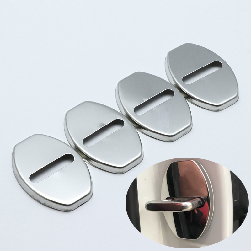 US $3 44 21% OFF|for Audi A1 A3 A4 A5 A6 A7 A8 Q2 Q3 car styling Stainless  Steel Door Lock Buckle Protective Cover High quality-in Chromium Styling
