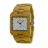 BEWELL Brand New Vintage Bambusa Drewna Zegarek Jako Prezent Dla Man Drewniane Pasek relojes hombre Japoński mechanizm Kwarcowy Zegarki 016A