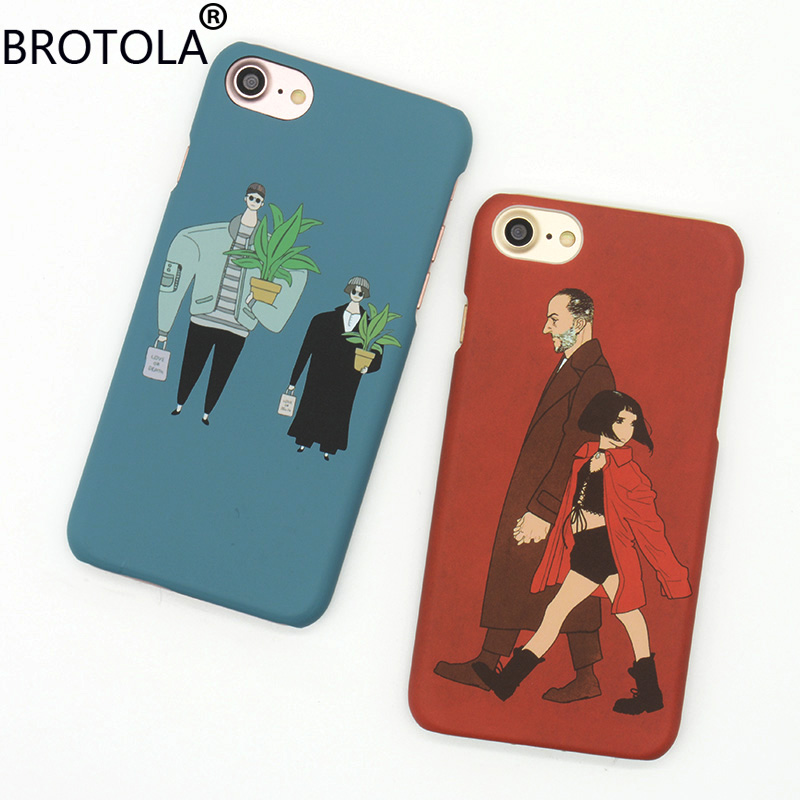 For iPhone 7 Cases Leon The Professional Movie Pattern Hard PC Back Cover For iPhone 5 5s 6s 7 Plus Cartoon Mathilda Phone Shell ...