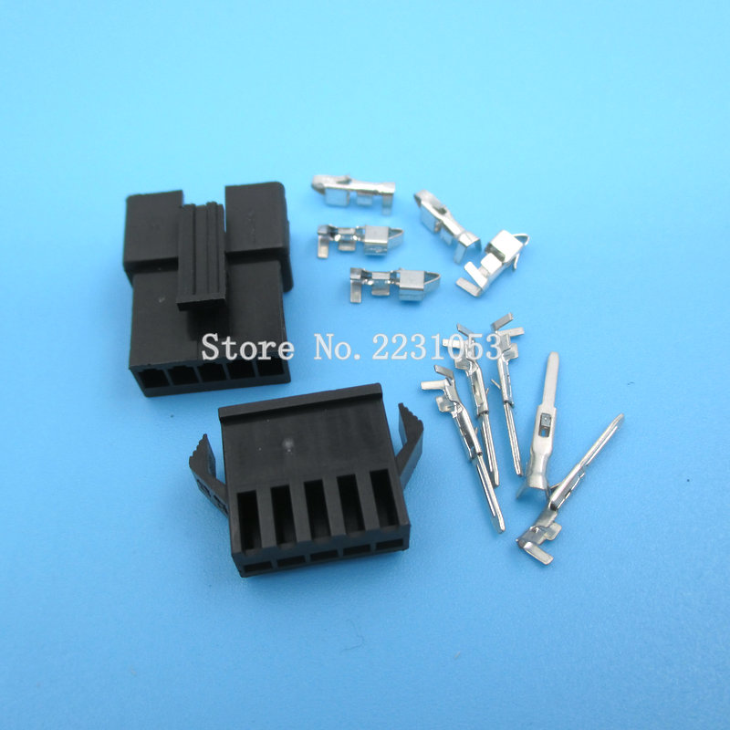 10 Sets SM-2.54mm Pitch 5p Female and Male Header Connectors Adaptor Plug SM2.54-5P