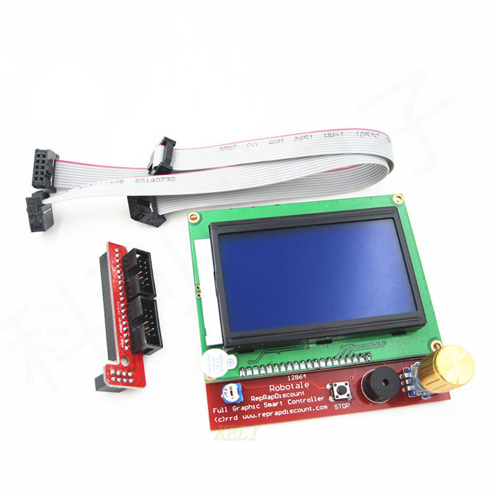 3D Printer Kit set Ramps 1 4 board 12864 LCD Screen MK2B Heatbed A4988 motor driver Controller in Replacement Parts Accessories from Consumer Electronics