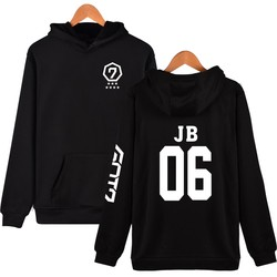 Fashion Hoodies Women Pullover Korean Got7 K-pop Fans Supportive Sweatshirt Women Moletom Got7 Sudaderas Mujer Never Ever 4