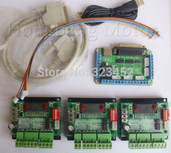 Free shipping CNC Router 3 Axis Kit,TB6560 3 Axis Stepper Motor Driver Controller Board,for nema23 two-phase,3A stepper motor free shipping cnc kit st m5045 stepper motor driver replace m542 controller 2 phase 4 5a dc24 50v nema23 76mm 3a step motor