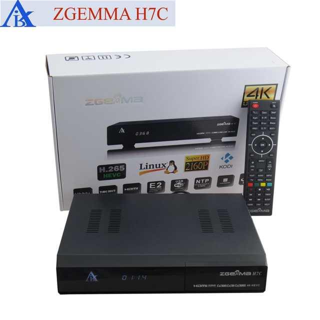 US $489 0 |2pcs/lot New 4K UHD Kodi TV Box ZGEMMA H7C Ci+ Conax QTStalker  Ultra CPU Multistream HEVC/H 265 DVB S2X+2*DVB T2/C Triple Tuners-in