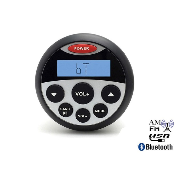 """3.5"""" Marine bluetooth  Stereo Motorcycle Audio Radio MP3 Player for Boat AM FM Receiver Car SPA Tractor ATV FM AM Sound System"""