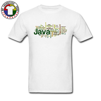 Programming Language Java PHP Code Image T Shirts Europe Prevalent Popular Top T-shirts Crew Neck Loose T-Shirt Cotton Fabric image