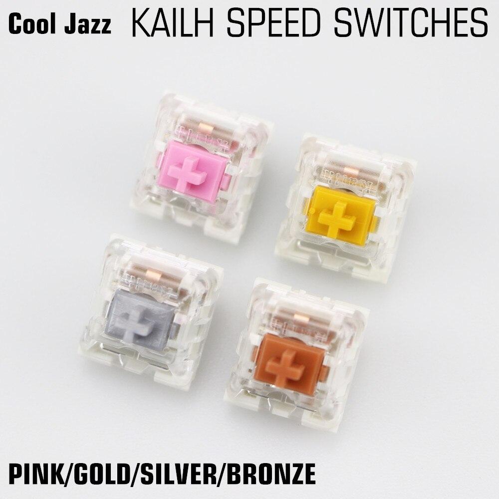 Cool jazz kailh velocidad RGB SMD oro plata cobre bronce Rosa MX RGB swithes para el mecánico retroiluminado teclado