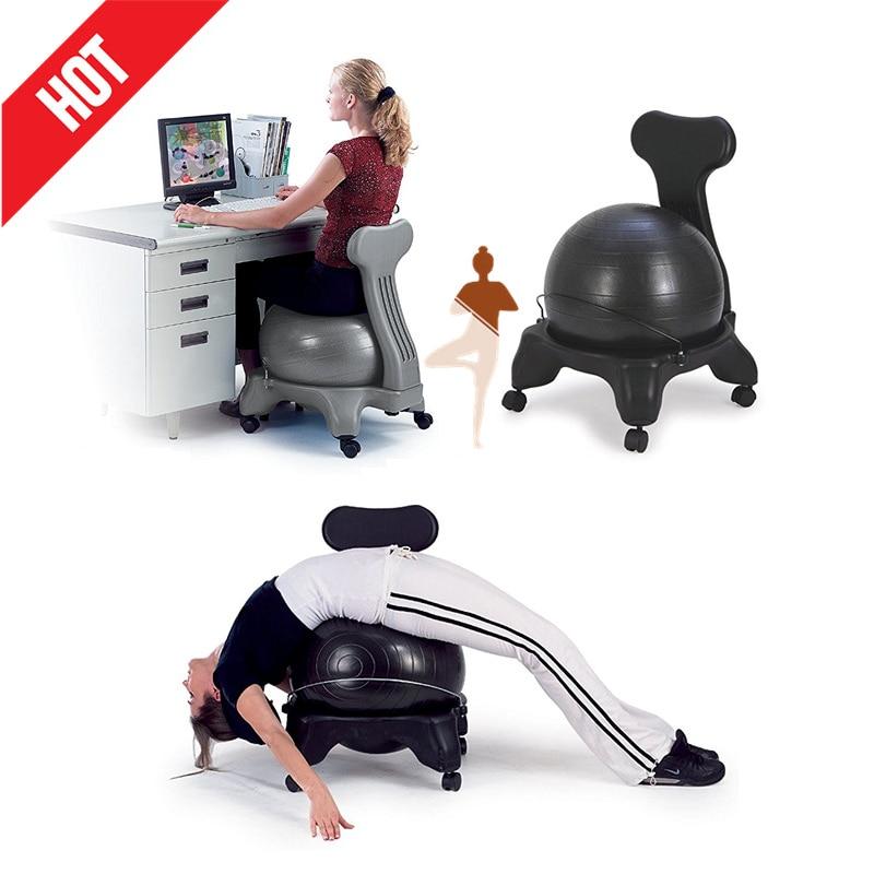 Chaise de boule d'équilibre chaise de rouleau de boule de Yoga classique