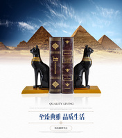 Resin Home Egyptian cat God bookend Bookends European Home Furnishing bookend indoor study Southeast Asian style soft decoration