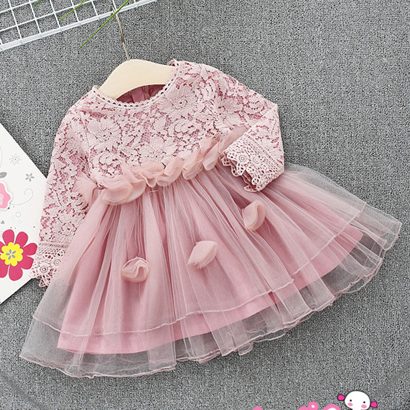 Baby Girl Spring Dresses Infant Dress 2018 New Baby Girls Clothes Fashion Lace Cotton Net Yarn Clothing For Kids Dresses