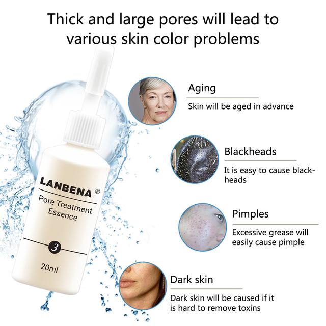 Lanbena Ores Shrink Serum Face Firming Acne Treatment Black Shrink Pores Pore Care Black Mask Partner