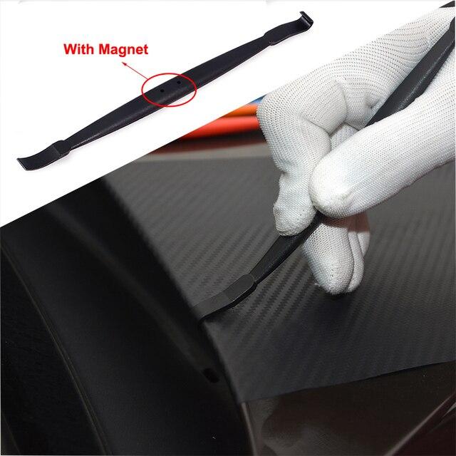 FOSHIO Karbon Fiber Vinil Oto Araba Kenar Wrap Manyetik Silecek Araba Sarma Kazıyıcı şerit etiket Duvar Kağıdı Kurulum Aracı