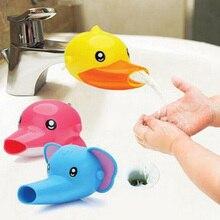 Милый мультяшный удлинитель для крана для детей детская ручная Стирка в ванной комнате аксессуары для раковины