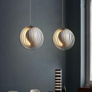 Image 2 - 北欧デザインの人格クリエイティブペンダントライト回転アート Hanglamp 寝室ダイニングルームバー玄関照明器具をぶら下げ