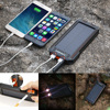 Solar Phone Charger 15000mAh Solar Phone External Battery Support Electronic Electric Cigarette Lighter LED Lighting