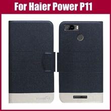 Лидер продаж! Haier power P11 чехол Новое поступление 5 цветов модный флип ультра-тонкий кожаный защитный чехол для телефона
