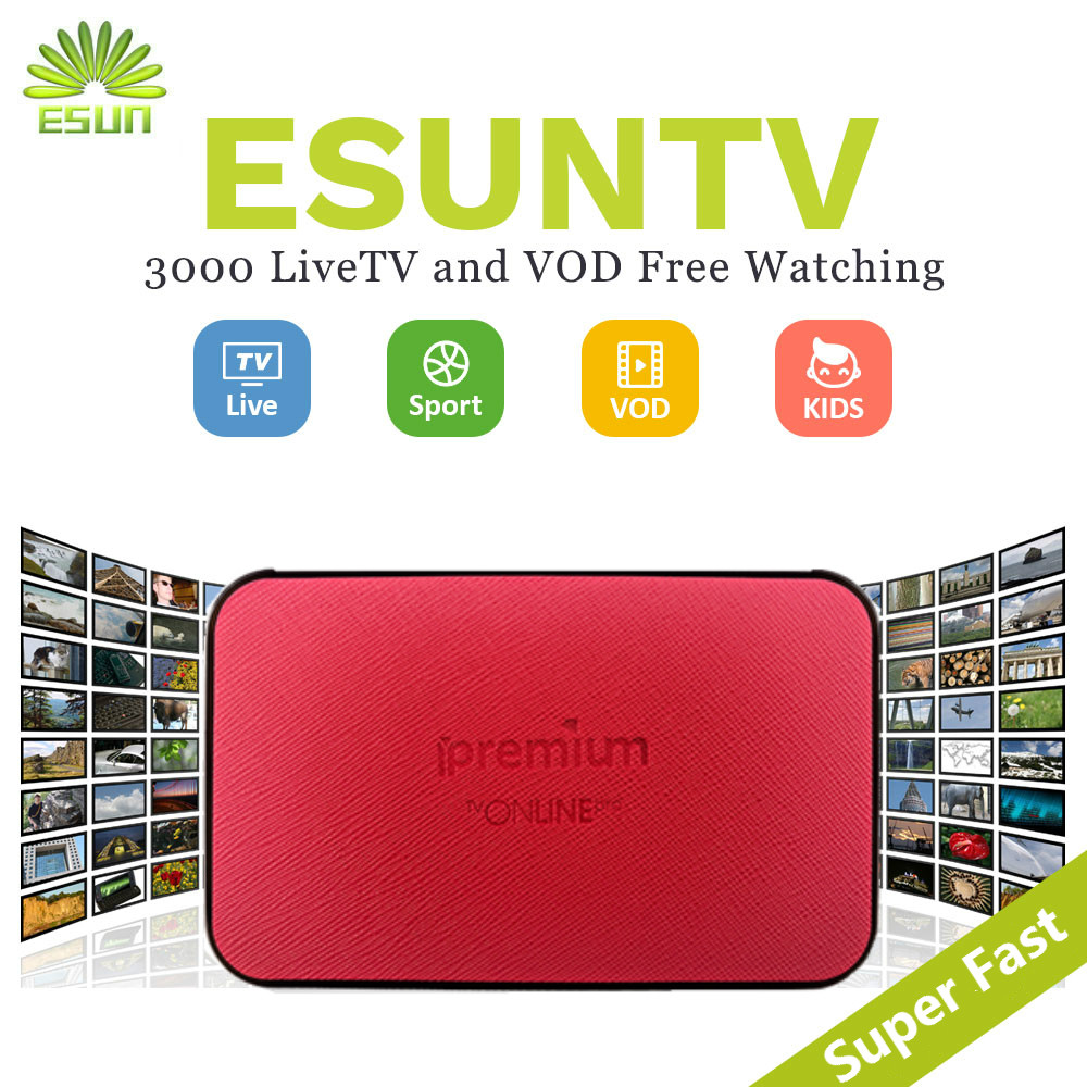 1 Year IPTV Included ESUNTV AVOV TVONLINE IPTV box Android Set top box Italy IPTV Germany Sweden Albania Potugal IPTV