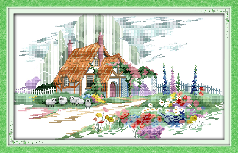 Radient Beautiful Home ,counted Printed On Fabric Dmc 14ct 11ct Cross Stitch Kits,embroidery Needlework Sets 8 Home Decor To Be Distributed All Over The World